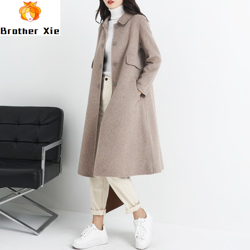 New double-sided cashmere overcoat popular in spring of 2020