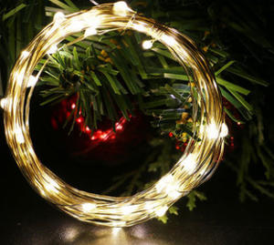 String-Light Garland Party-Decoration Powered-By-Battery Fairy Christmas Wedding 50LED