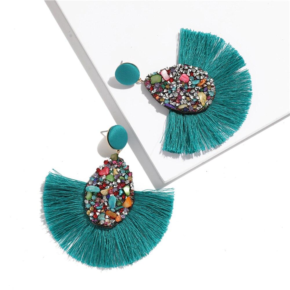 Fashion Bohemian Big Tassel Dangle Drop Earrings for Women Statement Wedding Red Fringe Female Earrings Za 2020 Jewelry