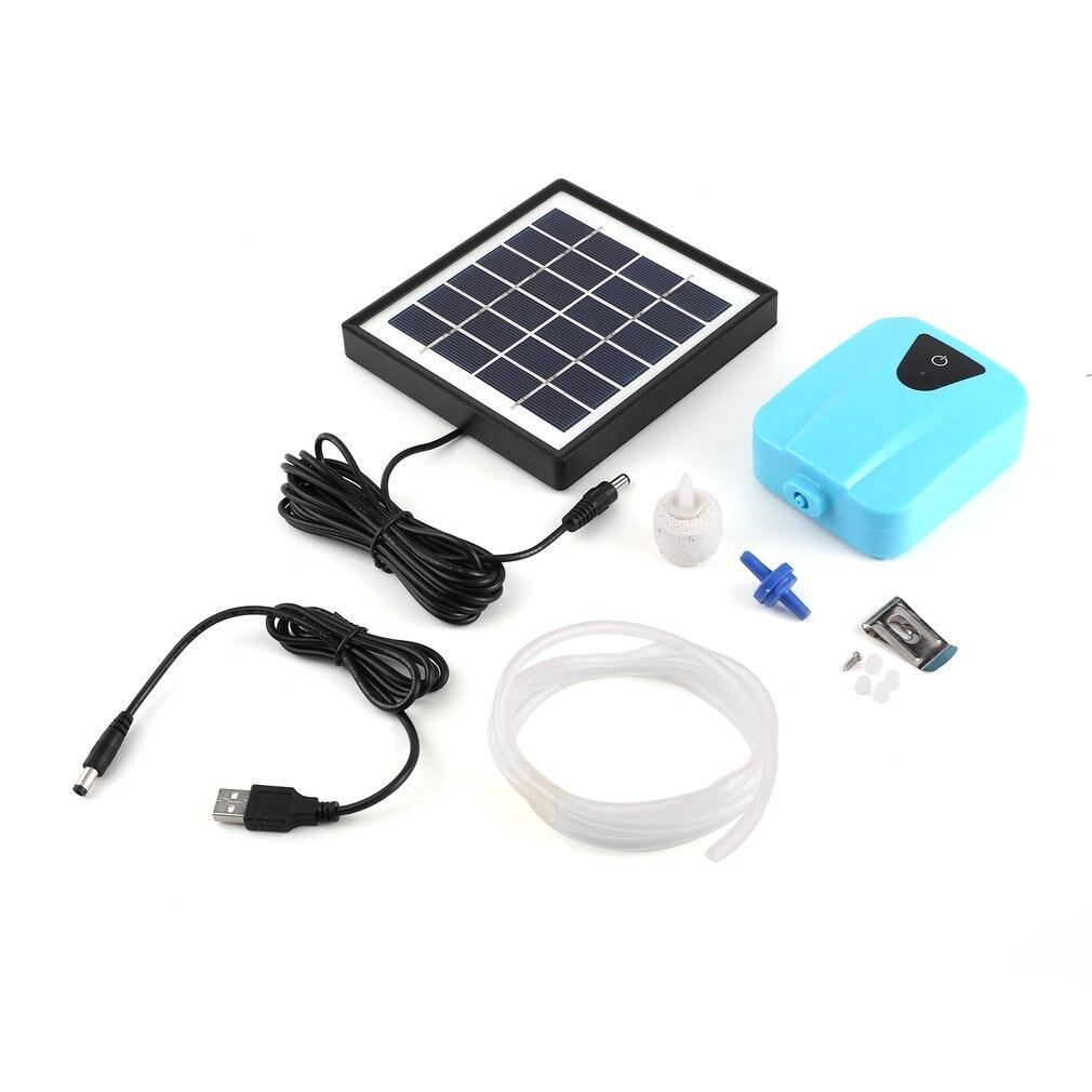 Solar Powered//DC Water Oxygen Pump Charging Oxygenator Pond Aerator Airpump UK