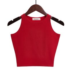 Hot 2019 New Women Sexy Cotton Crop Top Crop Bustier Multicolor Sleeveless Cropped Blusas Vest Tank Top Camisole