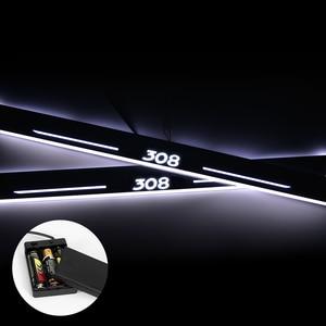 Ультратонкий акриловый светодиодный порог для Peugeot 308 408 508 3008 2008 307 светодиодный светильник