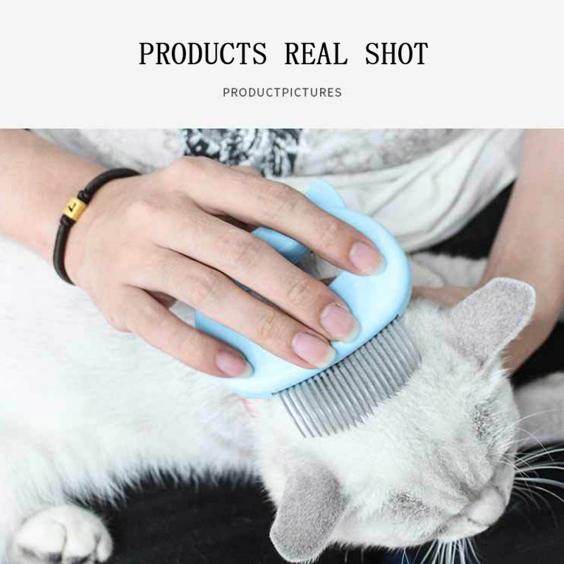 Cat Grooming Massage Brush with Shell Shaped Handle to Repair Withered and Yellow Hair of Cat 1