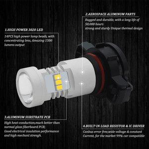 Image 3 - Canバスエラーなし白H16 5202 PS19W PSY24W P21W led電球アウディA3 8 1080pスポーツバックled drl昼間ランニングライト 2003 2013