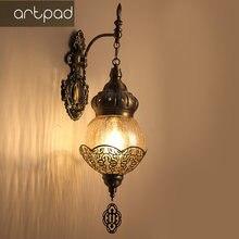Настенный светильник в стиле ретро настенный из закаленного