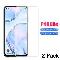 2 sztuk oryginalne szkło ochronne dla Huawei P40 Lite ochraniacz ekranu dla Hawei P40 światła P 40 P40Lite bezpieczeństwa jasne szkło hartowane
