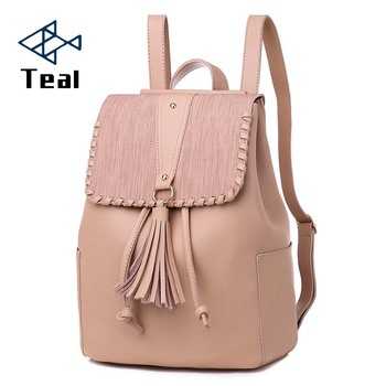 2019 Fashion Women Backpack Tassel High Quality pu Leather Backpacks Teenage Girls Female School backpack Shoulder Bag