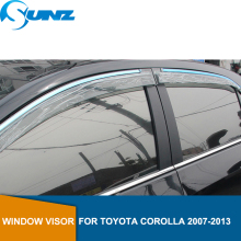 Car door visor  For TOYOTA COROLLA 2007-2013 Window rain protector 2007 2008 2009 2010 2011 2012 2013 SUNZ