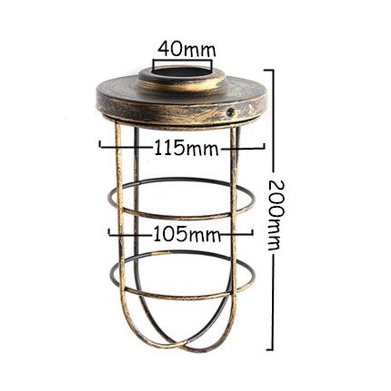 Винтажная Люстра для прихожей, железный подвесной светильник, светодиодный светильник для жилых помещений, кухонная люстра - 2