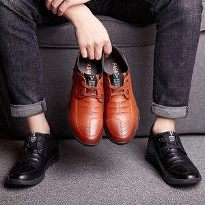 Image 4 - Misalwa 5 CM מעלית גברים של עור נעליים יומיומיות Mens מקרית סניקרס מעלית גובה הגדלת נעלי גברים בריטי אופנה