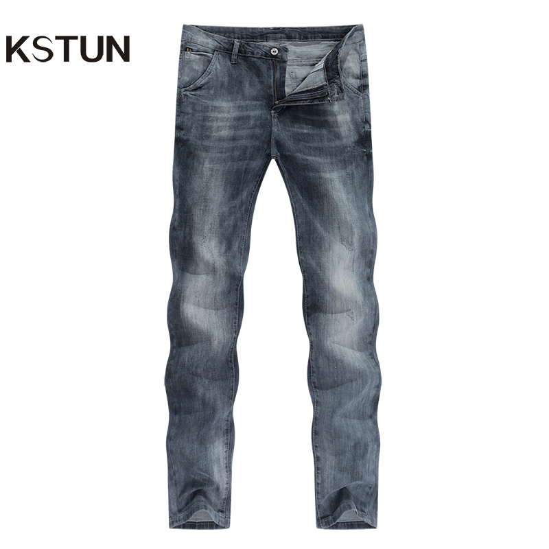 KSTUN Mens Jeans Slim Fit Retro Gray Denim Pants Man 2020 Summer Thin Grey Vintage Casual Pants Jeans Male Long Trousers Cowboys