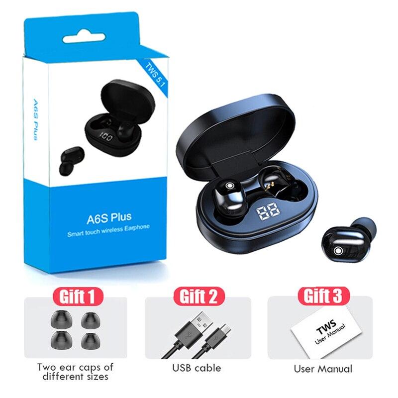 PJD A6S TWS bezprzewodowe słuchawki na Bluetooth słuchawki For Xiaomi Redmi słuchawki douszne z redukcją szumów dla wszystkich telefonów Smart