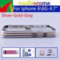 オリジナル品質 iphone 6 6 グラムバッテリーカバードア住宅のための iphone 6 シェルベゼルボディリアケース