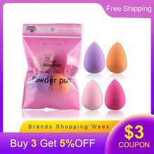 4Pcs/set Mini Beauty Soft Makeup Sponge Puff Face Nose Facial Foundation Base Liquid Powder Blending Drop Shape Cosmetic Tool(China)