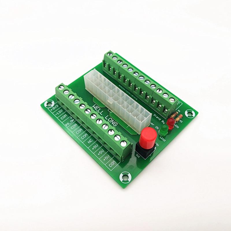 24//20-pin ATX DC Power Supply Breakout Board Module 24Pin ATX to terminal block.