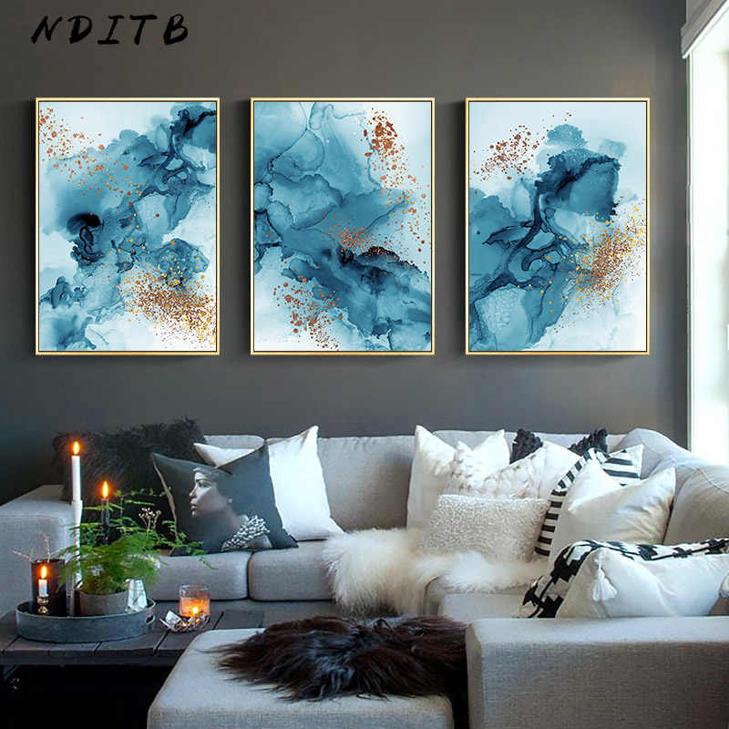 Modern Watercolor Ink Abstract Wall Poster Minimalist Canvas Print Decorative Painting Contemporary Art Home Decoration Picture