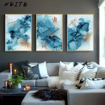 Modern Watercolor Ink Abstract Wall Poster Minimalist Canvas Print Decorative Painting Contemporary Art Home Decoration Picture modern artwork top rated canvas print painting 5 pieces anime one piece artistic poster logo picture wall art home decorative