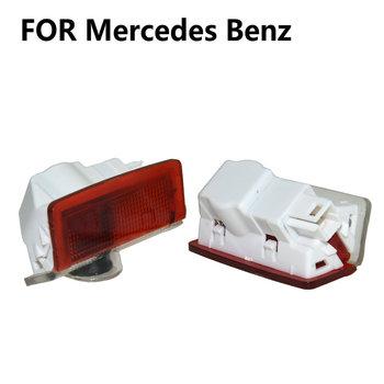 2X Led samochodów drzwiowe światło wejściowe cień duch Led Logo projektor dla Mercedes Benz W212 W213 AMG W205 X166 W166 W176 W246 GLE GLS tanie i dobre opinie silanka Witamy Światło