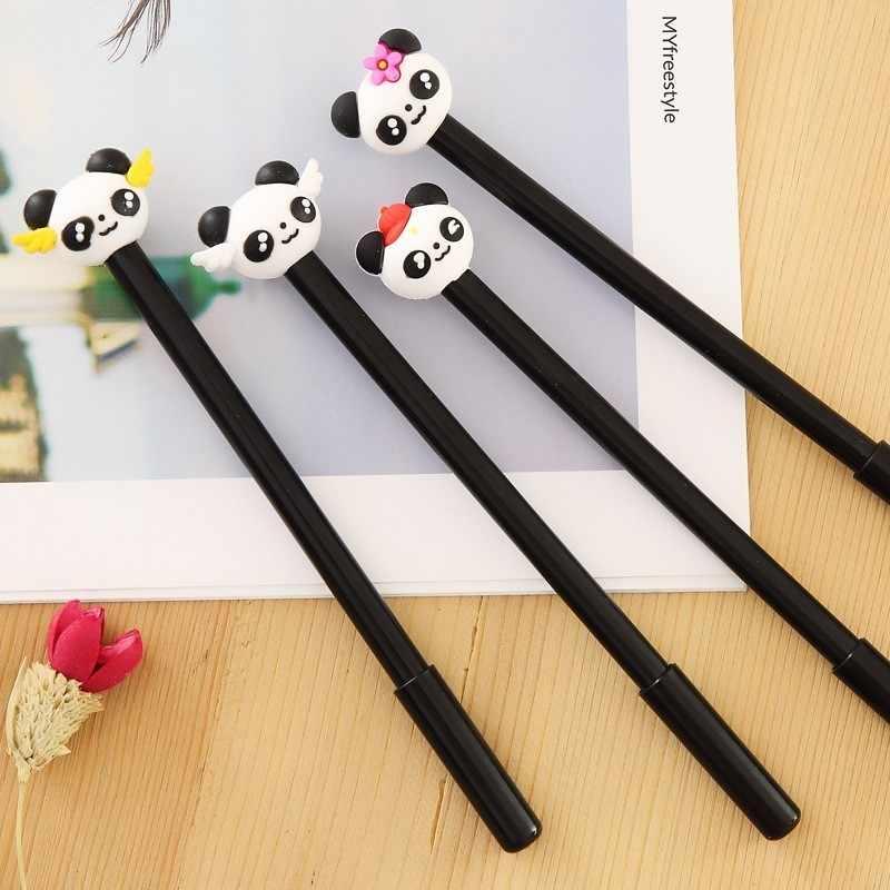 Ellen Ribeiro 1 Pcs Caneta Gel Escritório Escola Suprimentos Kawaii artigos de Papelaria Coreano Bonito Panda Criativo Novel Presente Alças