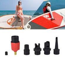 Sup – adaptateur de pompe à Air gonflable, pagaie en caoutchouc, pour bateau, Kayak, Valve, convertisseur de compresseur de pneus, 4 buses