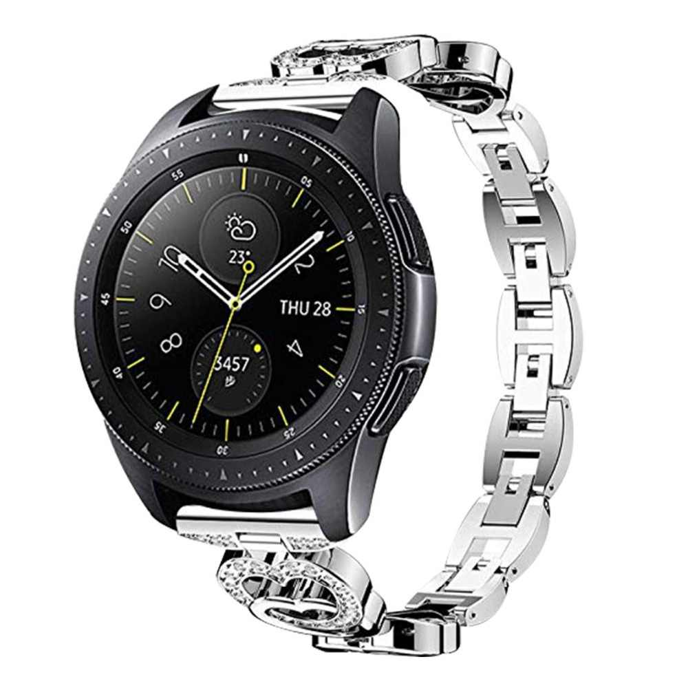 20mm להקת שעון רצועת לסמסונג גלקסי פעיל שעון 42 ציוד ספורט s2 קלאסי אופנתי יהלומי מתכת קישור גלקסי שעון 42