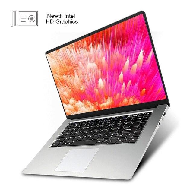 15.6 pouces SSD ordinateur portable avec clavier numérique ordinateur portable pour Intel J3160 Win10 OS 1920x1080 Full HD Ultrabook US plug + EU plug adapte