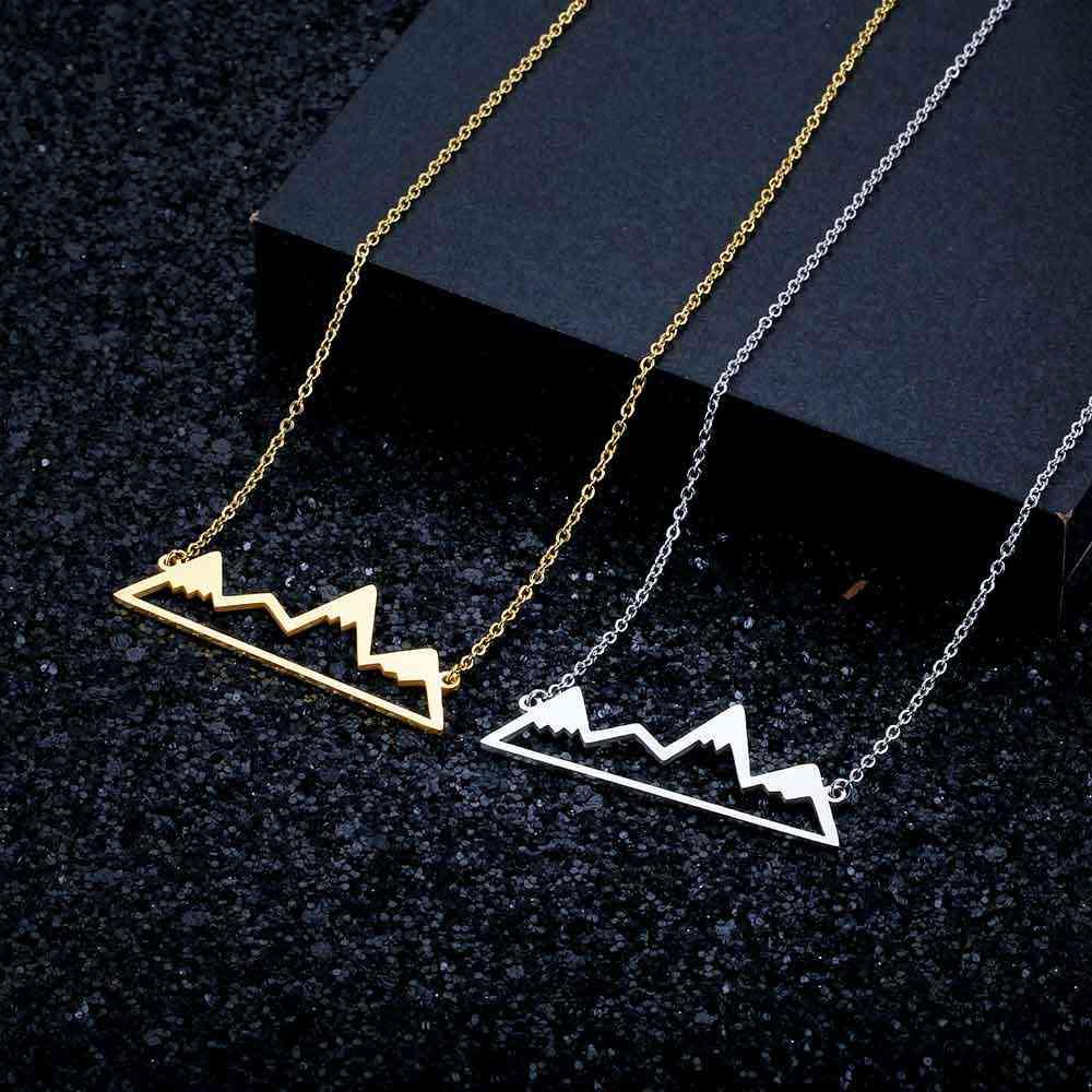 100% 本物のステンレス鋼中空マウンテンネックレスアメージングデザインスーパーの品質のジュエリーネックレスファッションペンダントネックレス