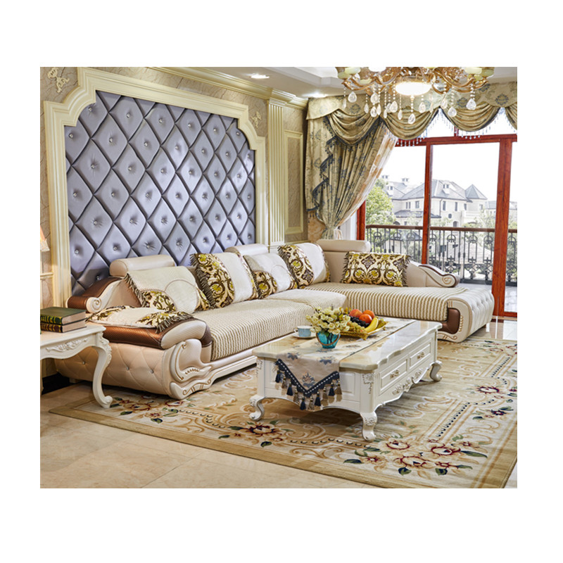 Sofa Fabric Wooden 5 Seater