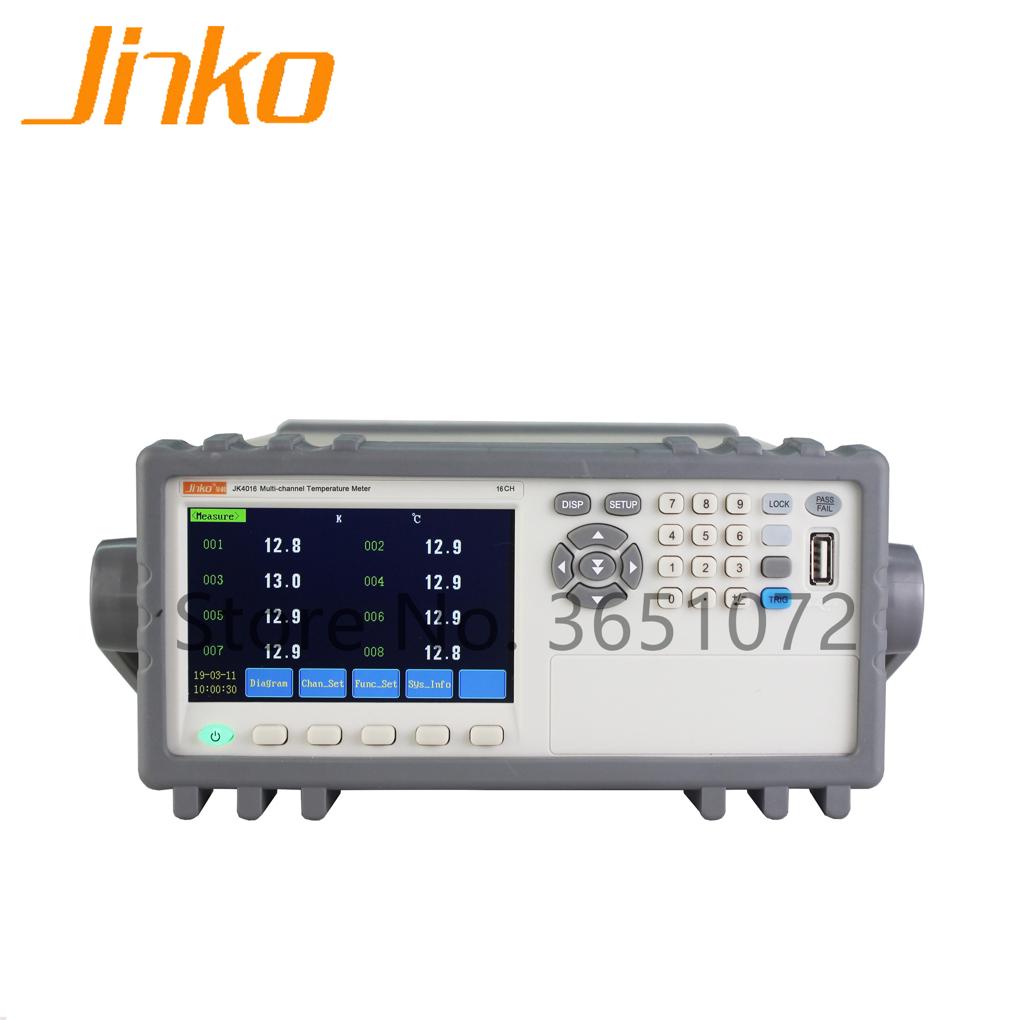 JK4016 multi-channel temperature data logging instrument thermometer with 16 channels