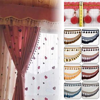 1M Pom Bobble Trim Fringe Curtain Sewing Sofa Tassel Balls Edging Ribbon