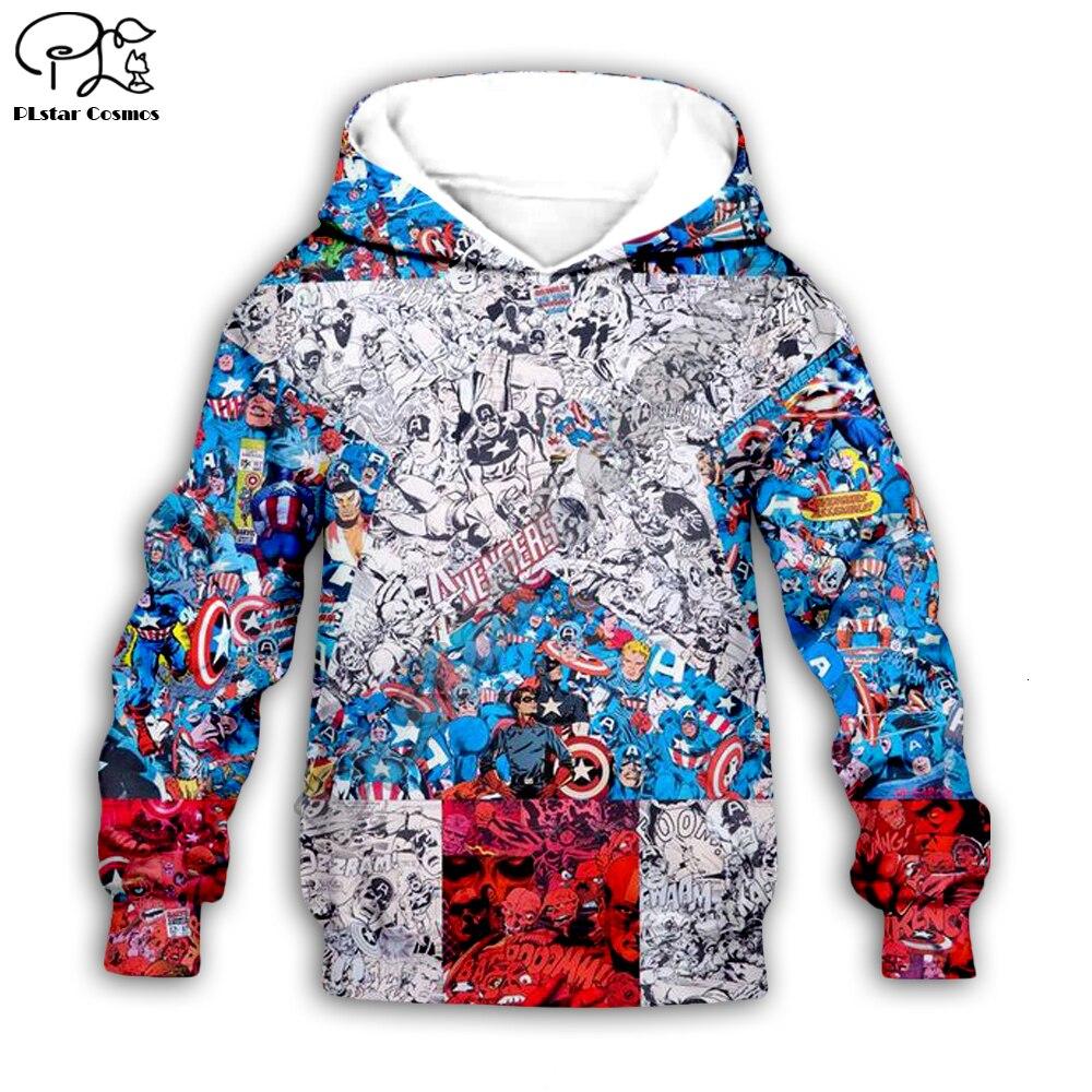 Super hero Captain American Hoodies Children's wear zipper Long Sleeve Cartoon Sweatshirt Tracksuit Hooded/pants/family t shirts