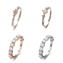 Doreen Box 3 Types Temperament Sweet Romantic Rings Wedding Engagement Fashion Rhinestone For Women Jewelry Gifts 1 PC