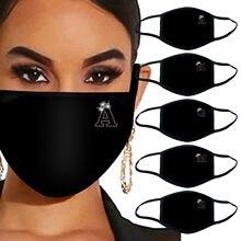 Nouveau style tissé masque lettres strass brillant personnalisé haute qualité d-ustproof coton masque Máscara tejida de nuevo estilo