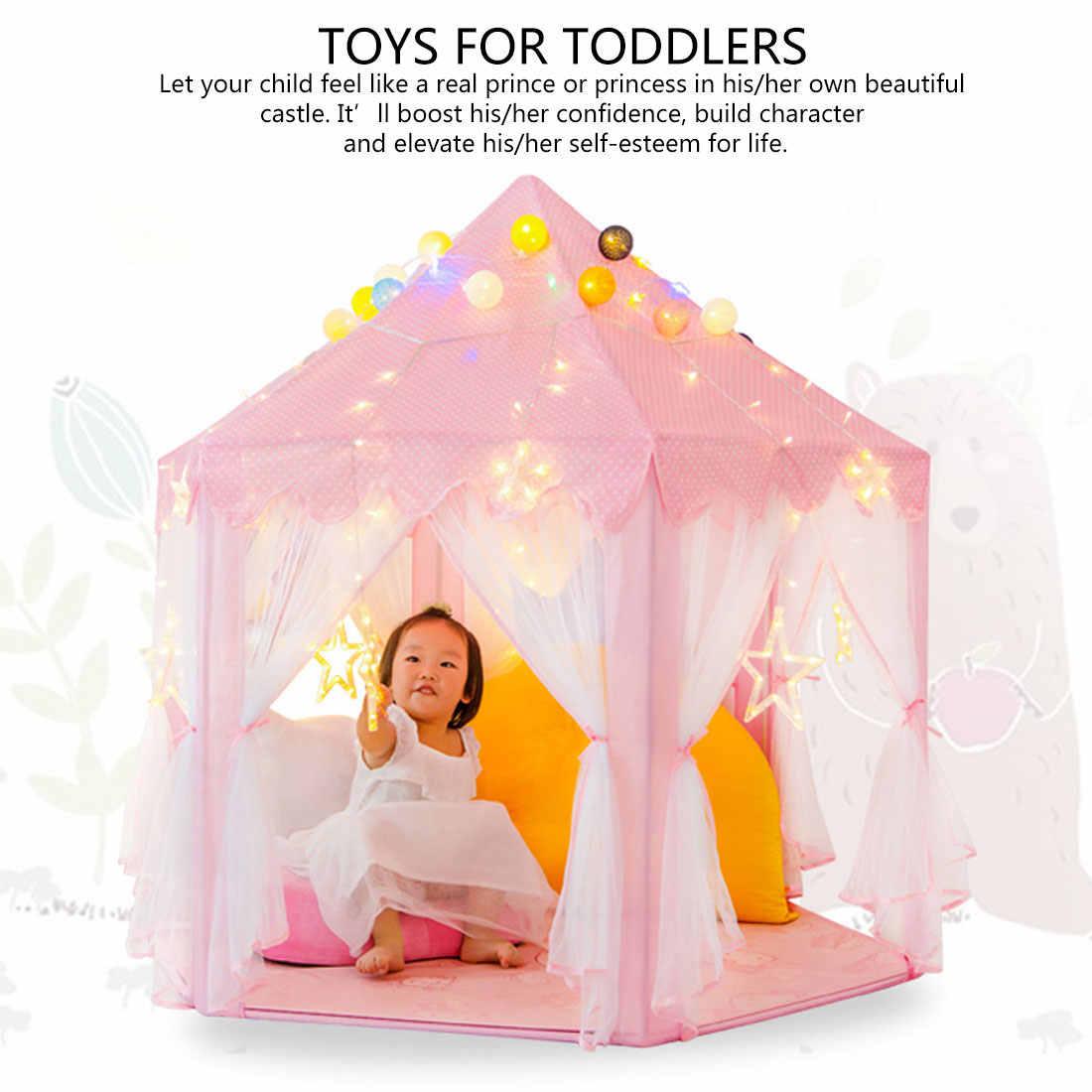 1.35 M Diameter Portable Anak-anak Castle Bermain Tenda Rumah Kecil Rumah Lipat Bayi Beach Tenda untuk Anak Anak