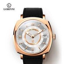 Lobinni-reloj cuadrado mecánico de edición limitada para hombre, automático, con diseño pagani