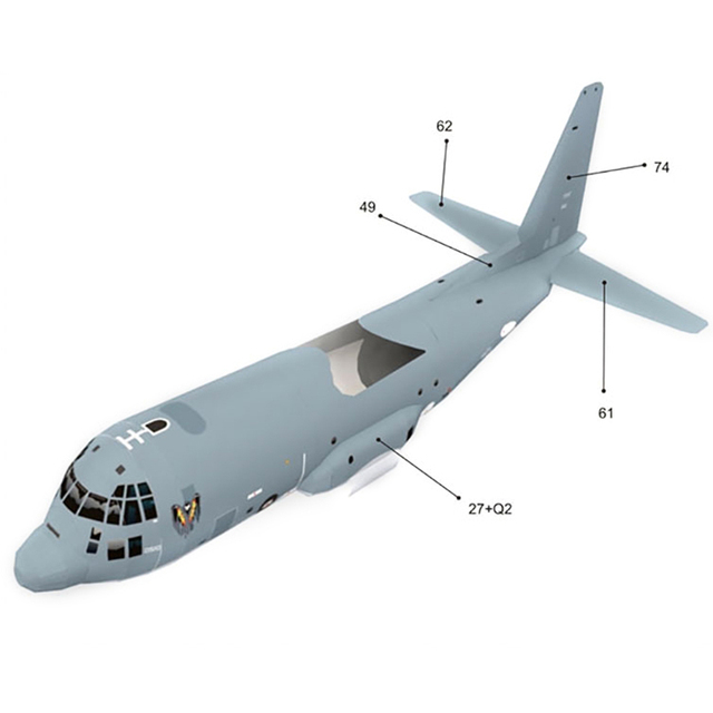 High Quality AC130 Ghost Aerial Gunship Aircraft Paper Model Military Fighter Paper Model 3