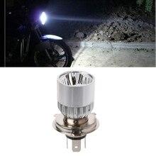 купить DC 12-80V Motorcycle Headlight Bulbs H4 3 LED White 9W Headlight Bulb Hi/Lo Scooter Lamp ATV Fog Light High-Low beam Car-Styling дешево