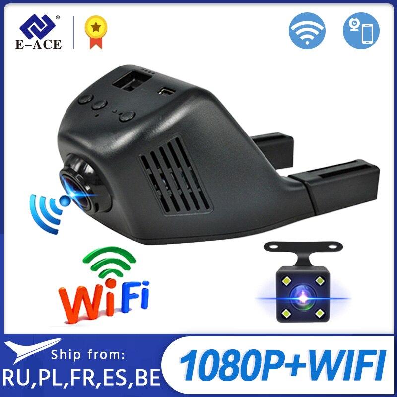 E ACE Mini Wifi Car Dvr Dash Camera Video Recorder Camcorder Dual Lens With Rear View Camera FHD 1080P Auto Reistrator Dashcam|dash cam video|dual camera lensdash cam video recorder - AliExpress