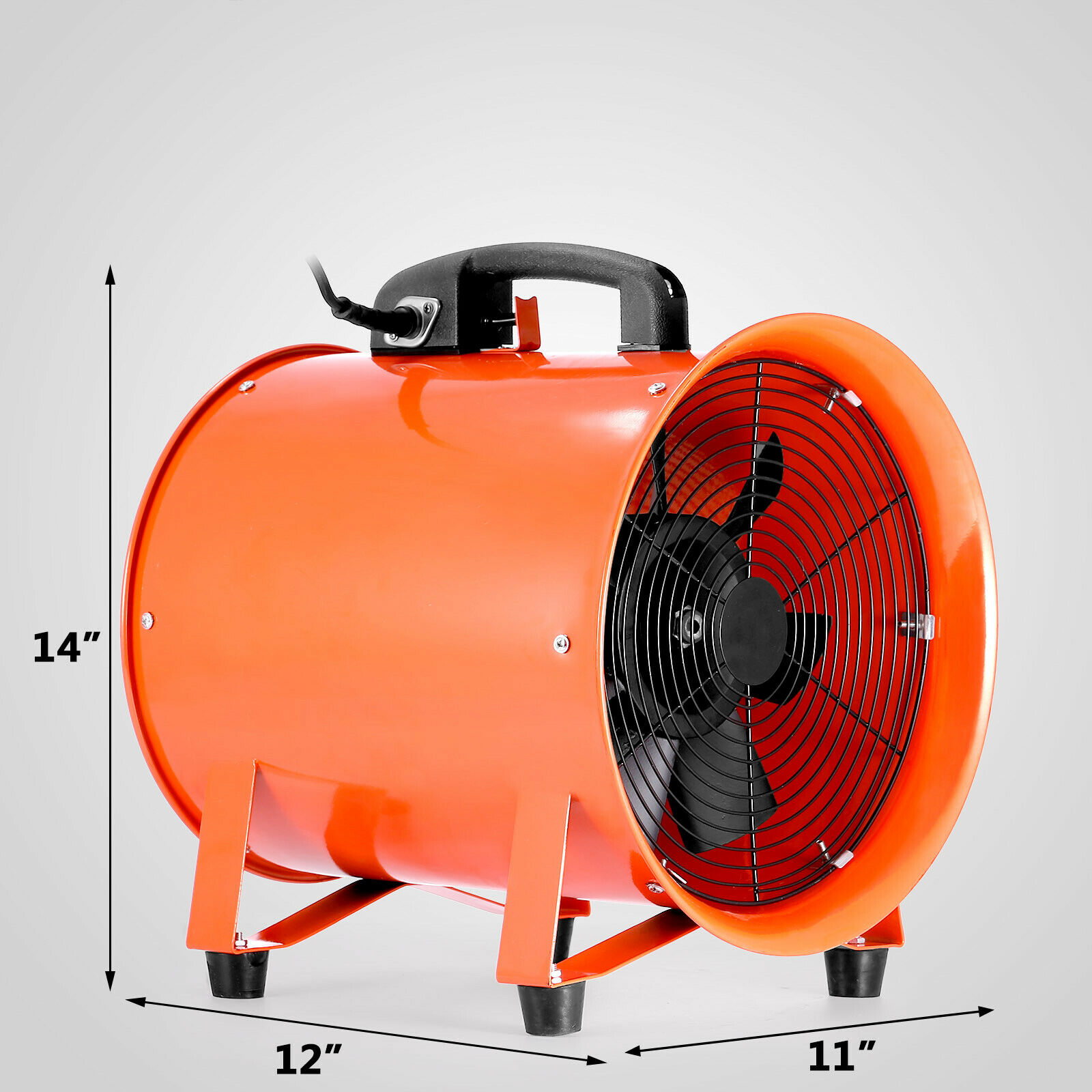 "VEVOR NEW 10"" Portable Industrial Axial Ventilator Blower Workshop Extractor Fan 250 Mm With Free Shipping  To Europe"