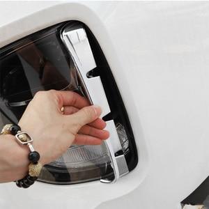 Image 3 - ヘッドライト防曇キットヘッドライト吸気トリムクロームスタイルのエクステリアアクセサリーhyundai santa feサンタフェIX45 2019 2020