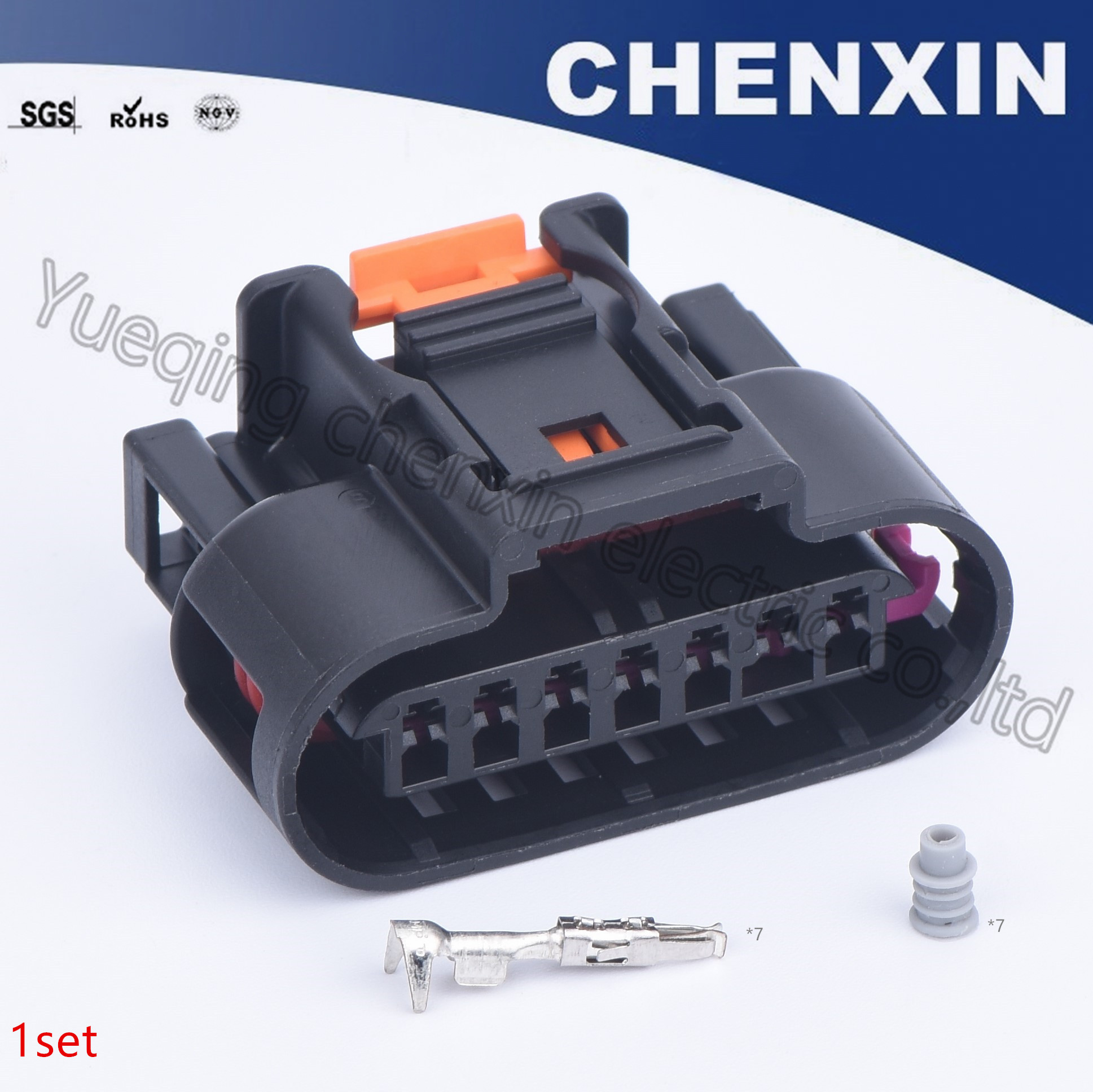 [DHAV_9290]  Black 7 pin auto connectors 1.5 female Ignition Coil wiring harness plug  electrical waterproof cable connector PP 10000888|Cables, Adapters &  Sockets| - AliExpress | Female 7 Pin Wiring Harness |  | AliExpress