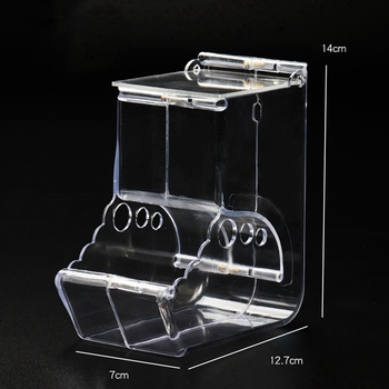 Pet Plastic Transparent Hamster Feeder Guinea Pig Food Bowl Container Can Squirrel Hedgehog Anti-flip Basin Automatic Feeder 5