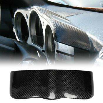 Decoration Dashboard Cover Strip 1pc Auto Carbon Fiber Interior 330*108mm