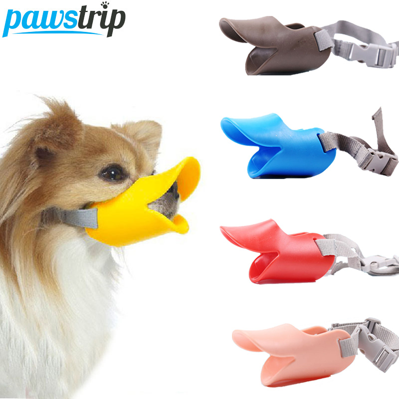 pawstrip Pet Dog Muzzle Silicone Duck Mouth Mask For Dogs Anti Bite Stop Barking Dog Mouth Muzzle For Dog Pet Mouth Cover S/M/L