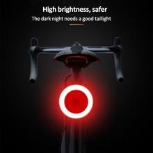 Feu arrière pour vélo, 5 Modes d'éclairage, Charge USB, Flash Led, pour tige de selle de vtt