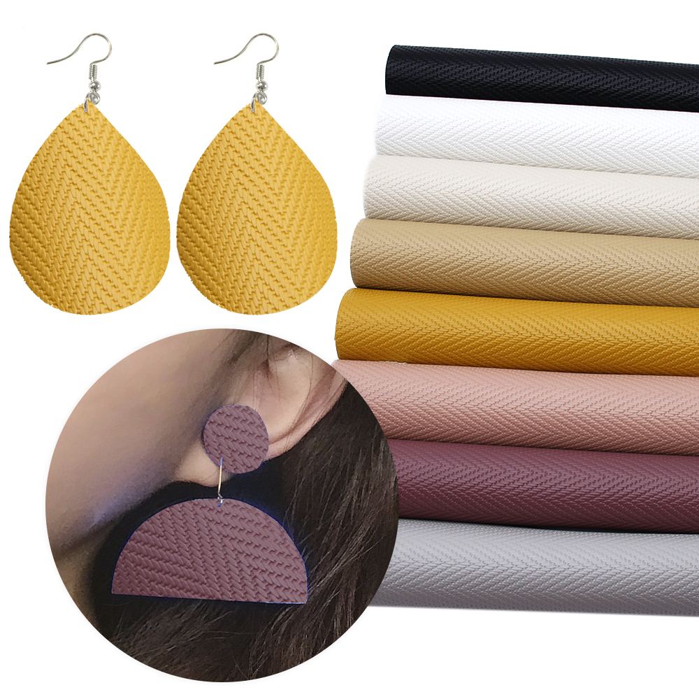 David Accessories 20*34cm Bump Weave Synthetic Leather DIY Bag Shoes Material Faux Leather Fabric Home Decoration,1Yc8105