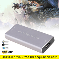 1080P 60FPS USB3.0 UVC HD Video Capture Card HDMI/SDI 1080P HD Video Capture Box with High speed Interface and Driveless Design