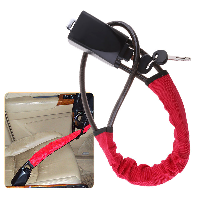 Car Truck Security Anti Theft Steering Wheel Quad Lock With 2 Keys Universal Automotive Tool Anti Theft Locking Devices Strap
