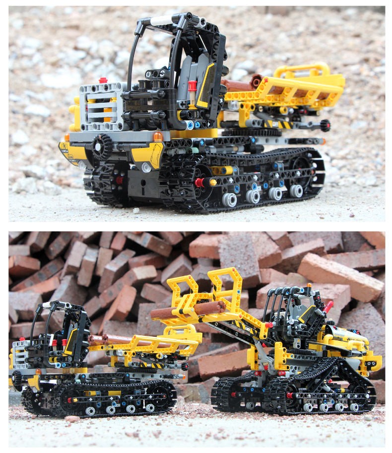 MOULD KING 13034-13035 Motorized Tracked Loader