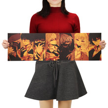 1PC Anime Tokyo Ghoul carácter cartel Retro Kraft pegatinas para la pared de papel Children'S Interior cuadro adhesivo para pared(China)